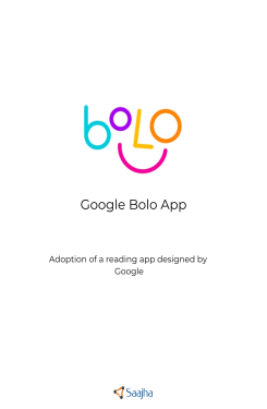 Report on project Google Bolo